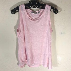 Athleta Tops - Athleta Baby pink linen twist tank top